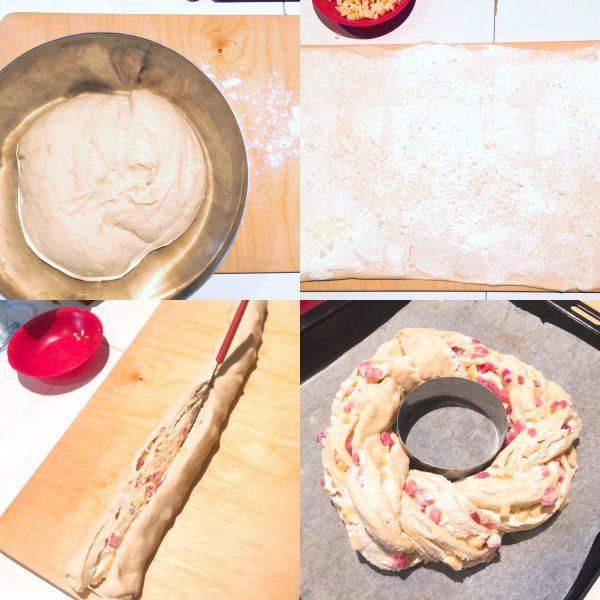 Ghirlanda salata e ripiena preparazione