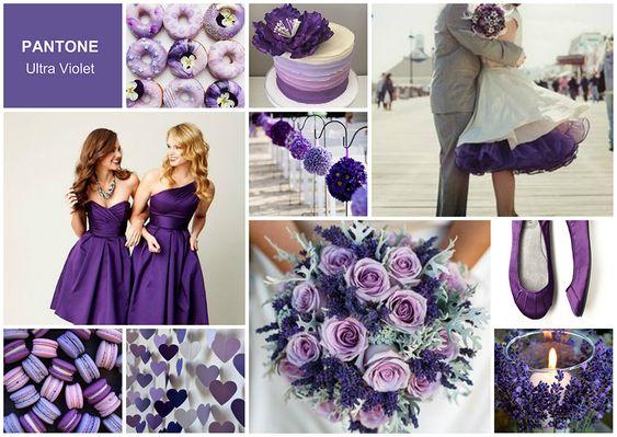 Pantone Ultra Violet Matrmonio