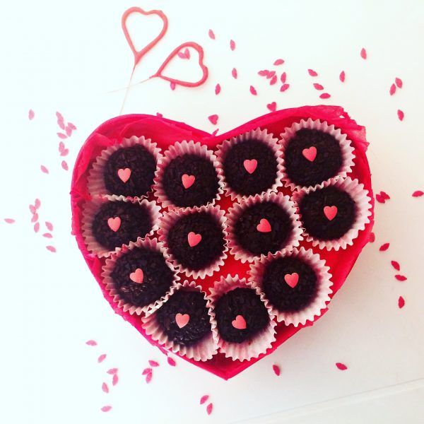 Brigadeiro al cioccolato per San Valentino