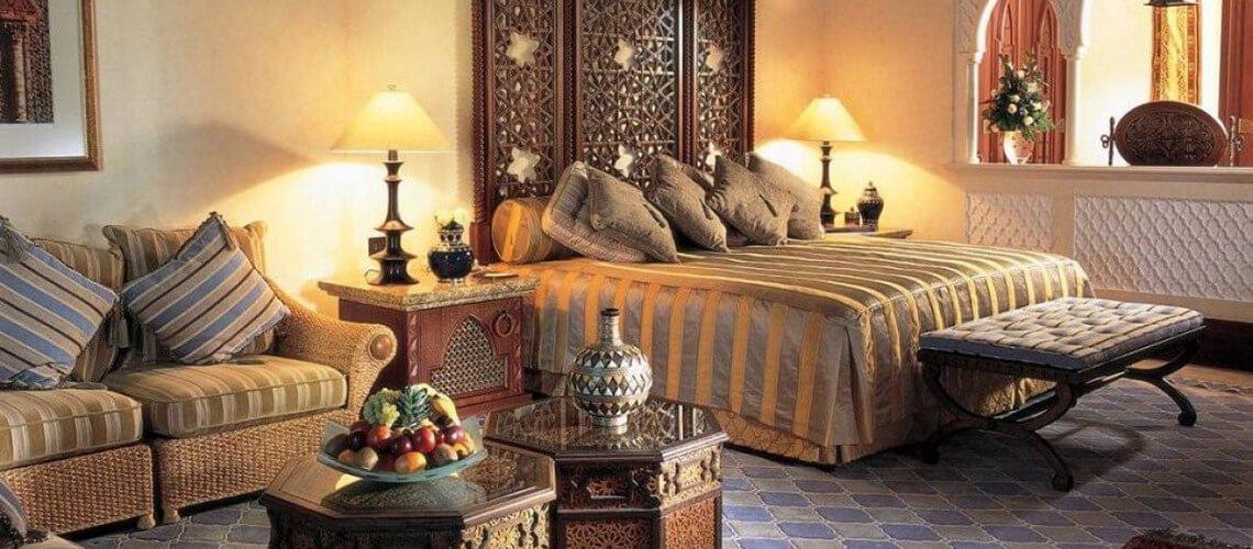 Sala arredo stile indiano