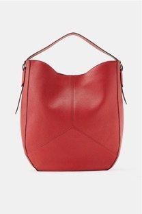 borsa rossa pelle