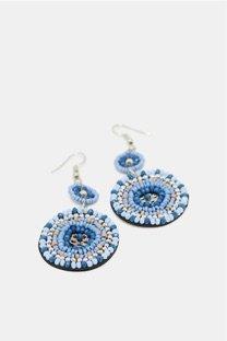 orecchini azzurri perline