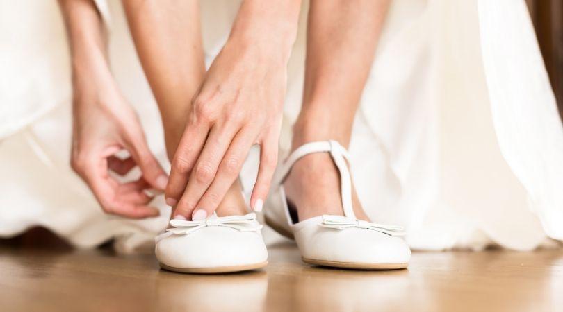 scarpe per andare all'altare