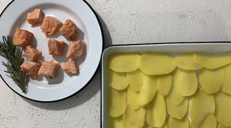ricetta salmone con le patate